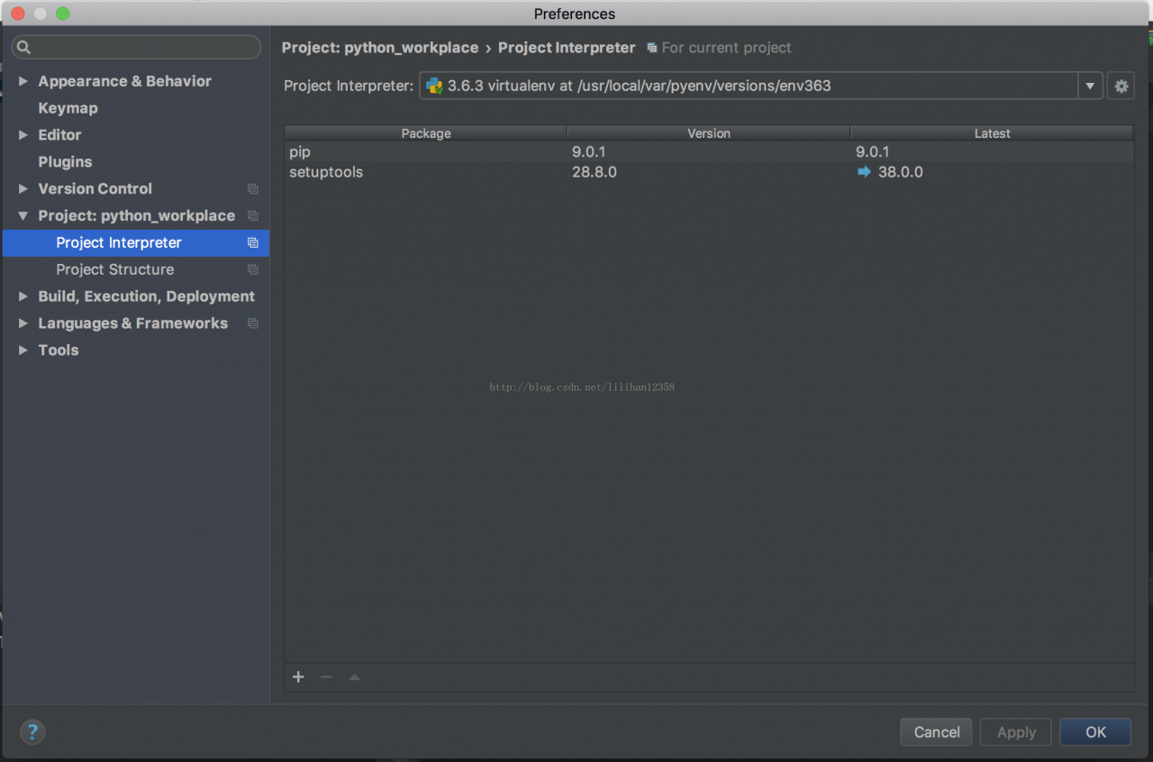 《mac下面安装python+django环境》